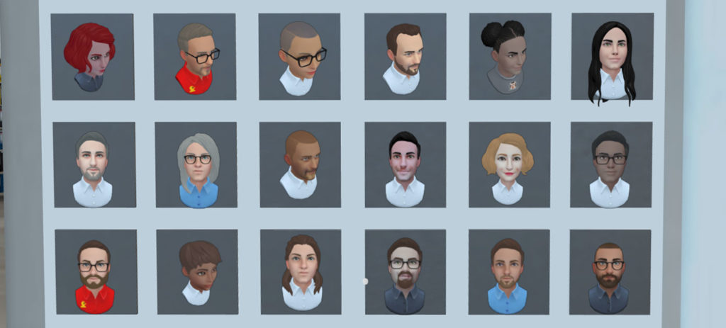 Choisissez votre avatars virtuels ou créer le votre