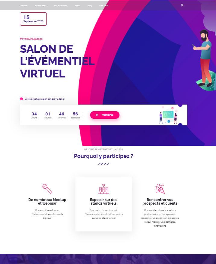 Salon virtuel site web dédié