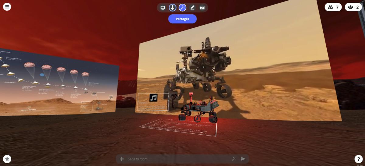 STEALINK.COM 001 Atterrissage de Perseverance sur Mars en VR sur le web